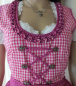 Mobile Preview: Gina Laura Dirndl 3-Teiler Gr.40 pink-weiss